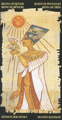 koroleva pentaklej v egipetskom taro mat plodorodiya